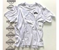 Футболка Alpha Industries SMALL LOGO TEE (WHITE)