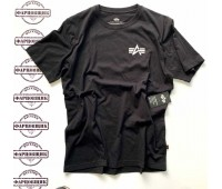 Футболка Alpha Industries SMALL LOGO TEE (BLACK)