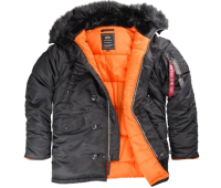 Аляска Alpha Industries SF N3-B BLACK ORANGE