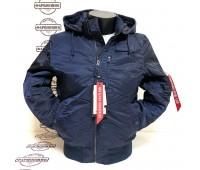 Куртка Alpha Industries MA-1 Hooded Rib (Blue)