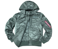 Куртка утепленная Alpha Industries MA-1 Hooded Rib (Sage)