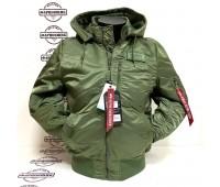 Куртка Alpha Industries MA-1 Hooded Rib (Sage)