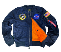 Куртка Alpha Industries NASA L-2B (Replica Blue)