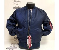 Куртка Alpha Industries MA-1 Slim Fit (Blue/Orange)
