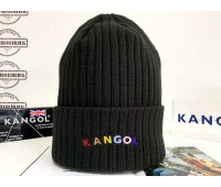 Kangol Color Text Beanie (Black)