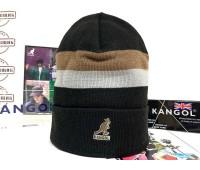Kangol Dual Stripe Beanie (Black)