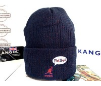 Kangol Fred Segal Hidden Beanie (Navy/Red)