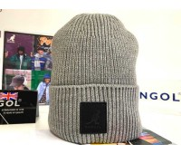 Kangol Patch Beanie (Light flannel)